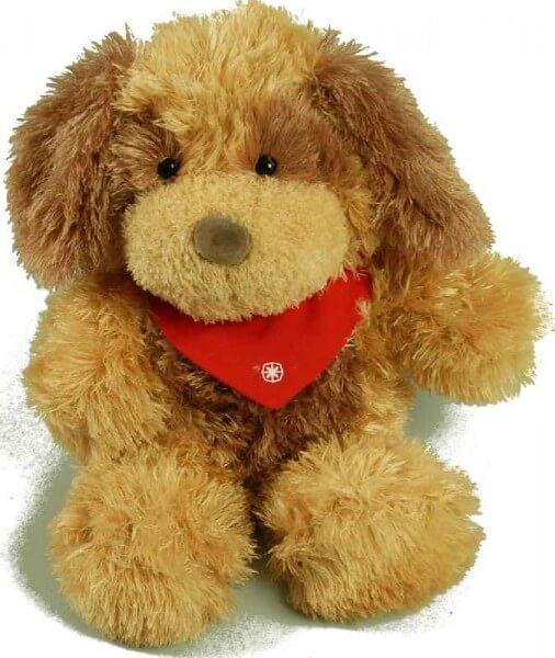 Stofftier Hund mit extra weichem Fell