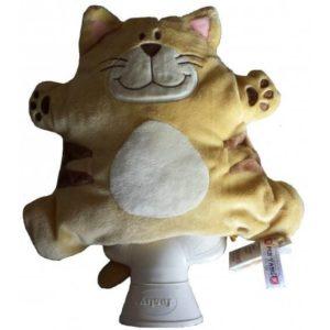 Katze Kiri ist ein Kuscheltier mit Platz für eine kleine Wärmflasche