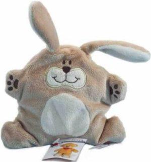 Neugeborenes Kuscheltier Hase flach für ruhigen Schlaf