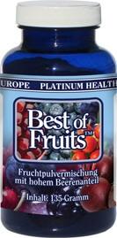 Schonend getrocknete Früchte und Beeren als Fruchtpulvermischung zur Nahrungsergänzung