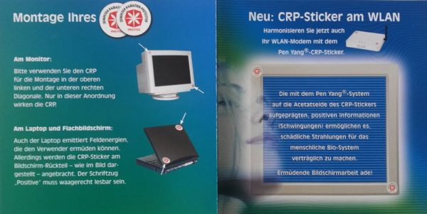 Montagehinweise für den Elektrosmog Monitorsticker zum Entstören
