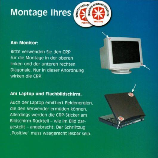 PEN-YANG Computer-Strahlungs-Schutz Aufkleber Montagehinweis Monitor und Laptop