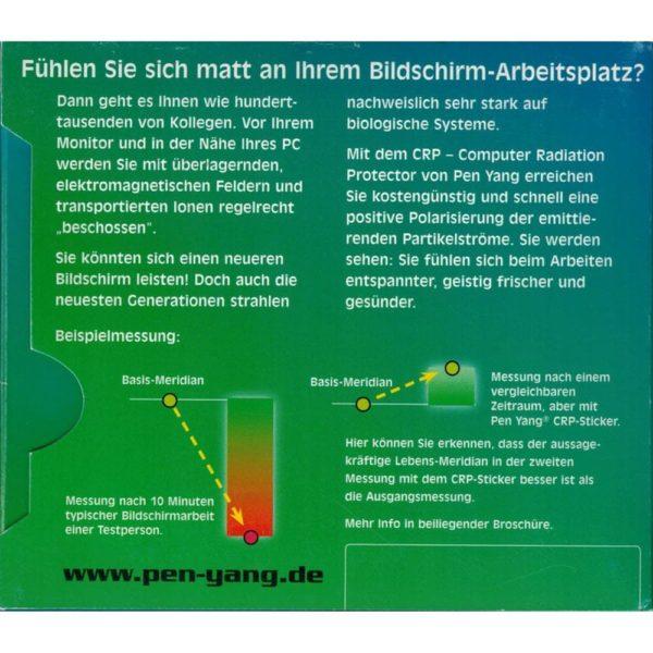 PEN-YANG Computer-Strahlungs-Schutz Aufkleber Verpackung Rückseite