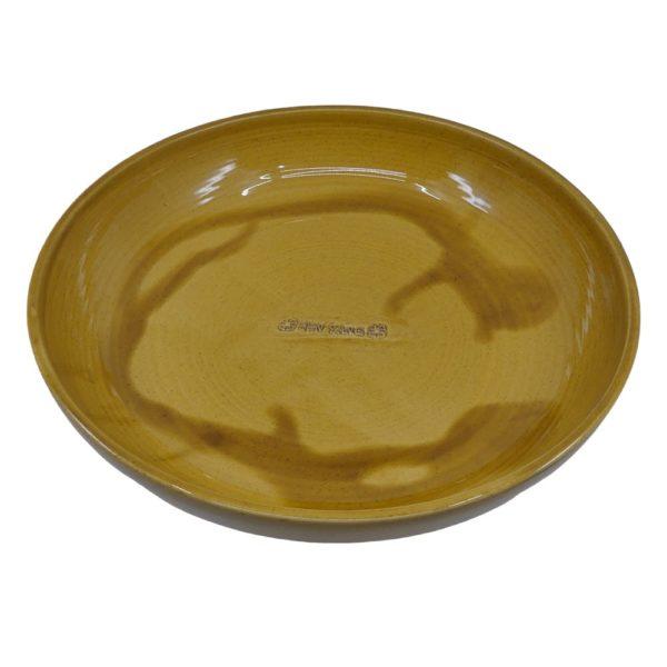 Honigschale aus gebranntem Ton, lasiert