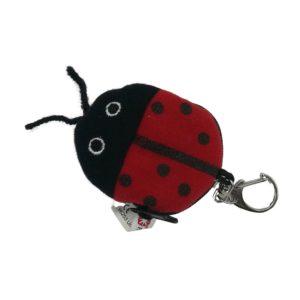 Marienkäfer rot, sieben schwarze Punkte Schlüsselanhänger