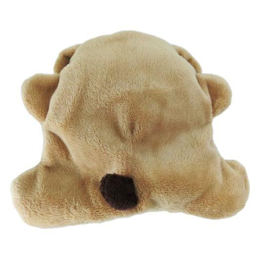 Rückseite Stoffhund klein flach günstig