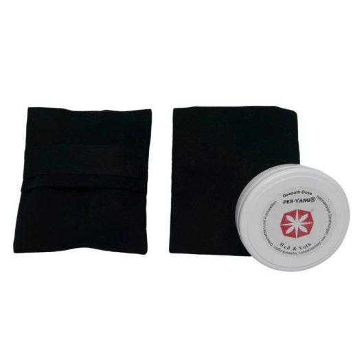 Zwei schwarze Taschen mit einer Elektrosmogschutz Dose